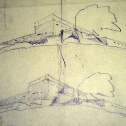 mendelson original sketch of the house, 1935